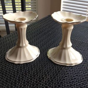 Candlestick Holders with Platinum trim